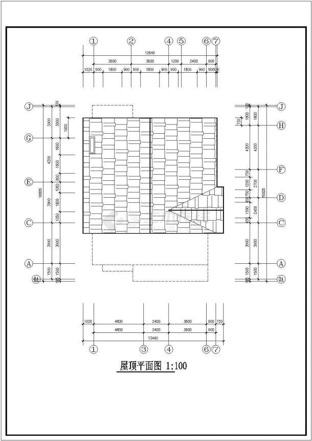 什邡某三层砖混结构农村住宅楼设计cad详细建筑施工图(含设计说明)-图二