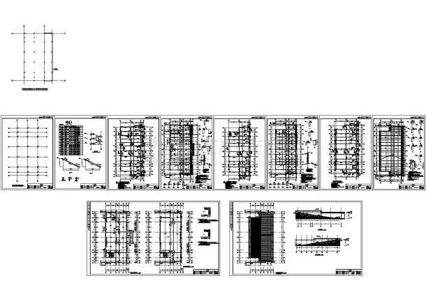 办公楼设计_[江苏]地上八层框架结构办公楼群结构施工图(含结构设计总说明)-图二