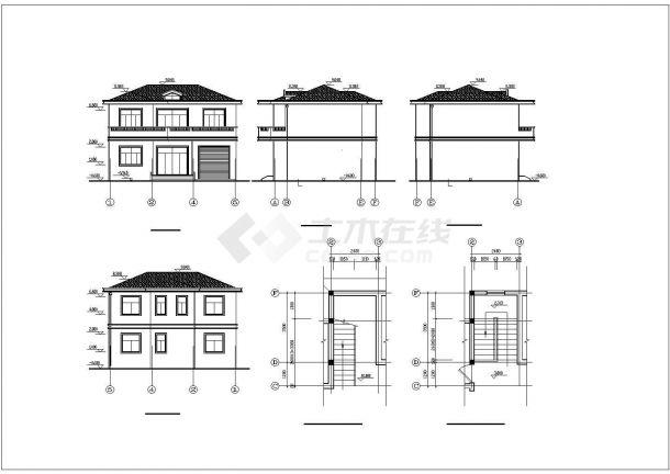 某2层农村自建房砖混结构设计施工CAD图纸-图一