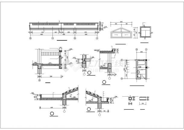 某2层农村自建房砖混结构设计施工CAD图纸-图二
