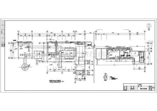 某县集中供热锅炉房管道设计施工CAD图纸-图一