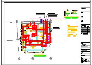 [上海]中水处理站建筑给排水cad施工设计图纸-图一