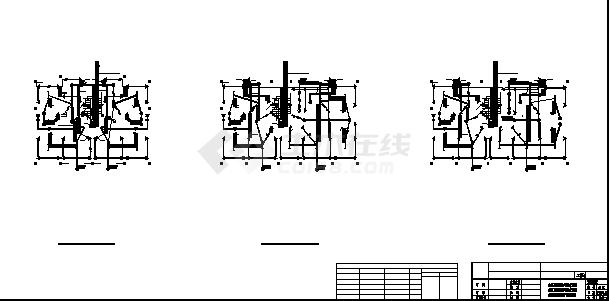 四洲某小区住宅楼弱电系统设计施工cad图纸-图二