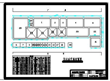广东某线路板厂生产废水处理工艺cad设计图纸-图一