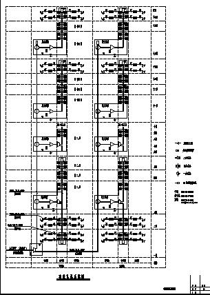 某小区十八层住宅弱电系统设计施工cad图纸-图一