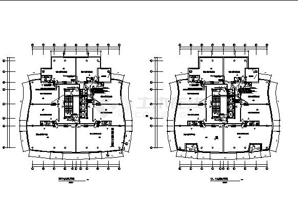 青岛某小区住宅公寓弱电系统设计施工cad图纸-图二