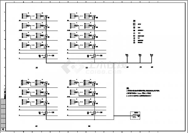 某高层住宅小区弱电系统设计施工cad图纸-图一