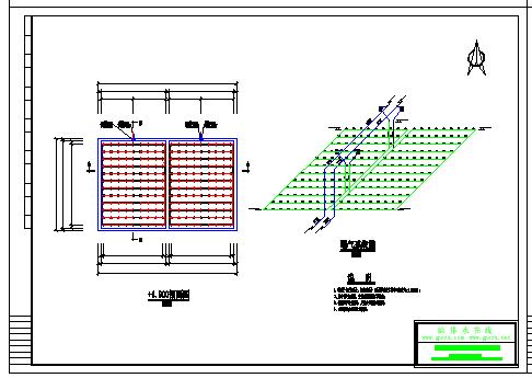 生活污水SBR反應池800噸工程設計cad施工圖-圖一