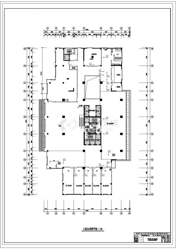 河北省办公楼暖通设计图纸毕业设计(冷却塔)-图一