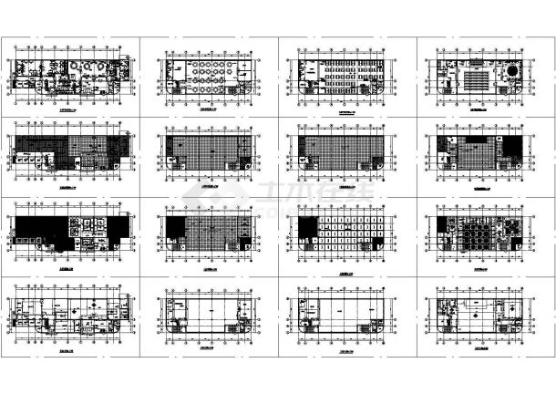 某四层食堂室内设计cad全套施工平面图 (甲级院设计,16张图)-图一