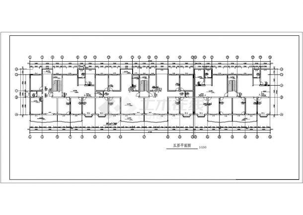 4000平米五层框架结构住宅楼建筑设计CAD图纸(含阁楼和半地下室)-图一