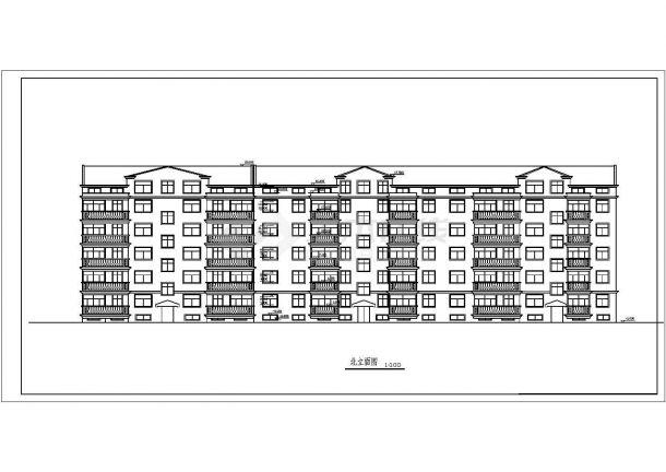 4000平米五层框架结构住宅楼建筑设计CAD图纸(含阁楼和半地下室)-图二