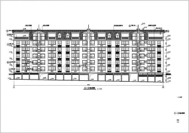 江苏省张家港市某多层住宅小区建筑施工设计CAD图纸-图一