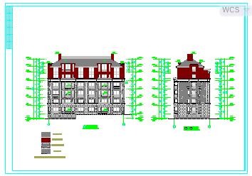 某多层住宅楼设计cad建筑图纸-图二