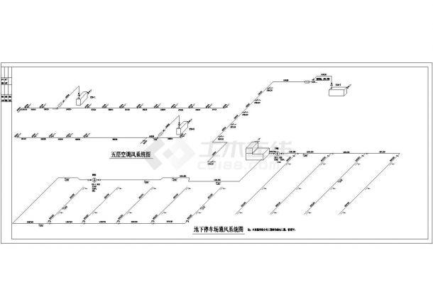 某多层办公写字楼全套空调通风系统施工设计cad图纸-图一