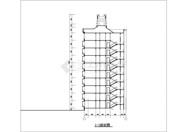 蚌埠市信昌花园小区9+1层框架结构住宅楼建筑设计CAD图纸(三套方案)-图一