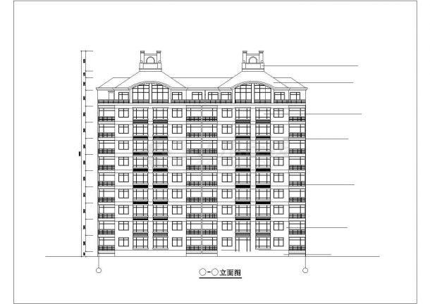 蚌埠市信昌花园小区9+1层框架结构住宅楼建筑设计CAD图纸(三套方案)-图二