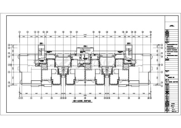 高层商住楼及车库采暖通风CAD图纸-图一