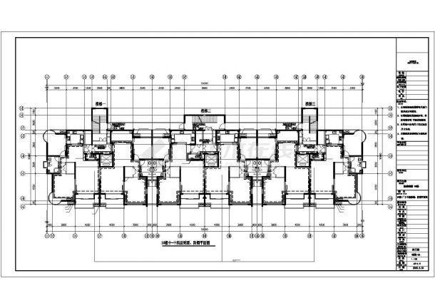 高层商住楼及车库采暖通风CAD图纸-图二