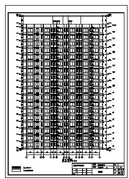 住宅楼设计_某地上18层剪力墙结构住宅楼建筑结构施工cad图纸-图二