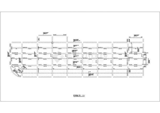 上海市某跨国企业8层框架结构办公楼全套结构设计CAD图纸-图一