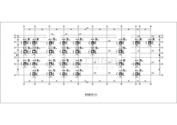 上海市某跨国企业8层框架结构办公楼全套结构设计CAD图纸-图二