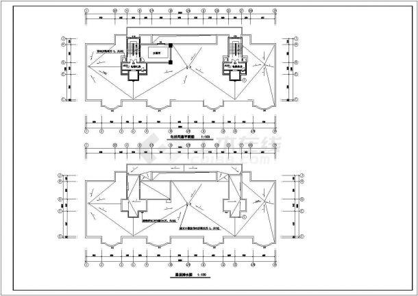 乌鲁木齐市某现代小区8100平米15+1层框架结构住宅楼建筑设计CAD图纸-图一
