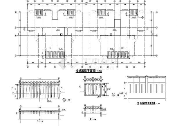 深圳市南山嘉园小区6200平米8层框架结构住宅楼建筑设计CAD图纸-图一