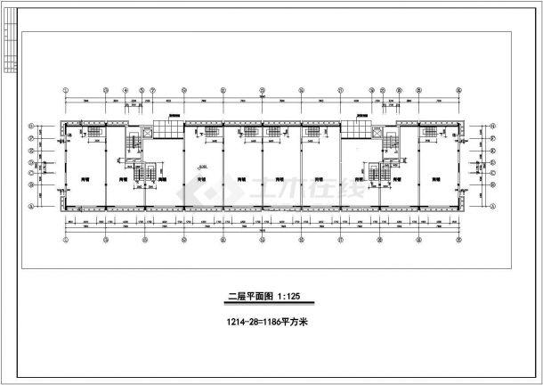 滦州市翡翠庄园小区9层框架结构住宅楼全套建筑设计CAD图纸-图一