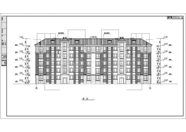 武汉市盛邸花园小区五层框架结构住宅楼建筑设计CAD图纸(含阁楼)-图二