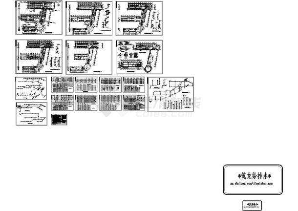 六层医院综合楼给排水施工图纸(含设计说明,目录,共17张)-图一