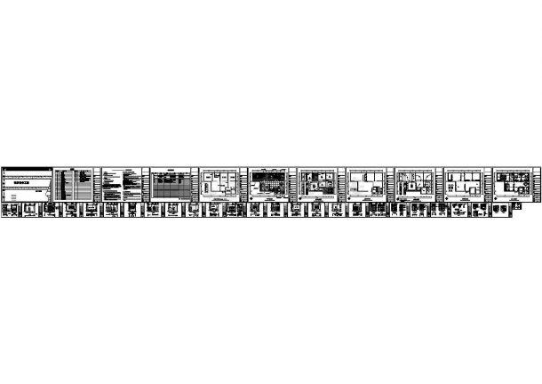 简洁三居室室内设计施工图纸(附效果图)-图一