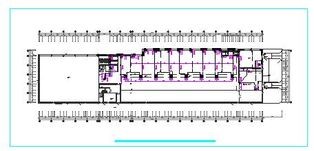 某工厂车间内部空调通风系统cad设计图-图二