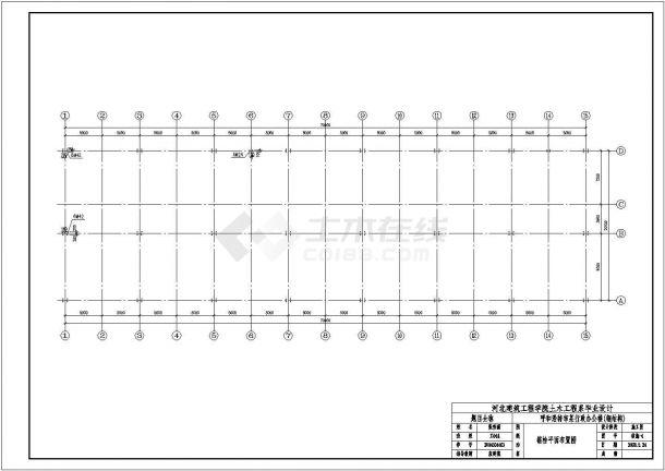 青岛市某企业单位5层框架结构办公楼全套结构设计CAD图纸-图二