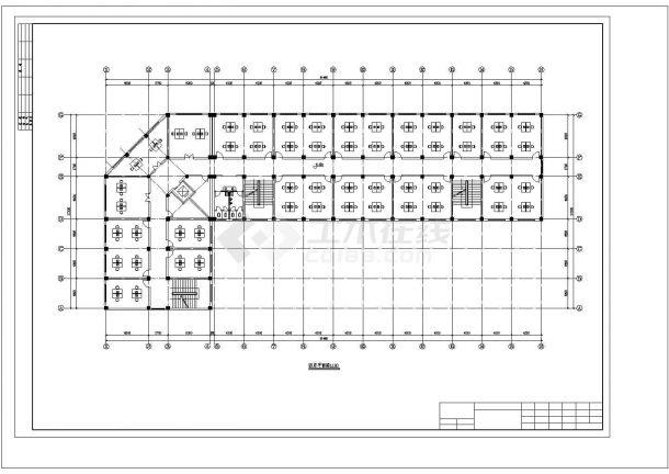济南市周南路某企业单位5层框架结构办公楼建筑设计CAD图纸-图二
