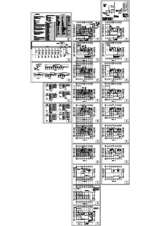 某环保局电气办公楼图纸-图一