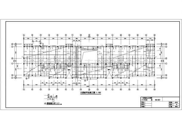 宿州市某建筑公司3600平米4层框架结构办公楼建筑+结构设计CAD图纸-图一