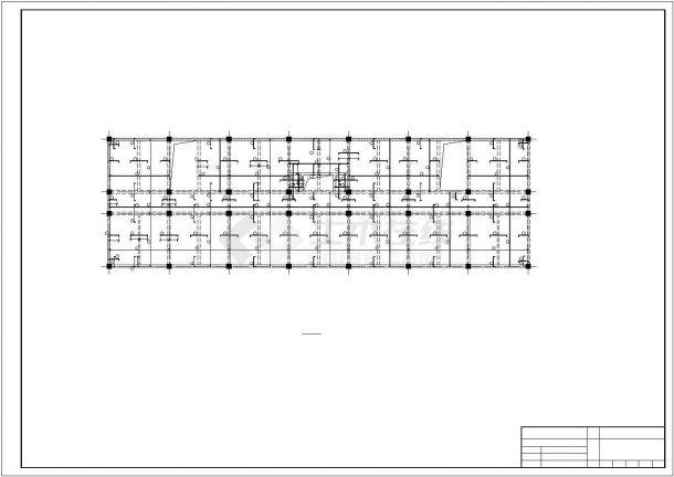 阜阳市某技术学院6层现浇钢混框架结构办公楼全套结构设计CAD图纸-图一