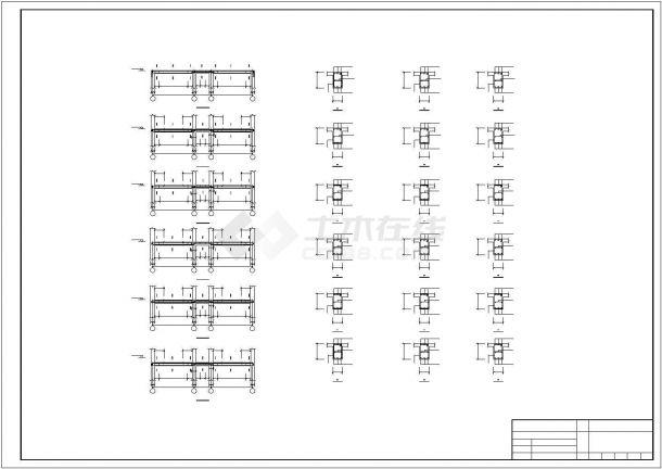 阜阳市某技术学院6层现浇钢混框架结构办公楼全套结构设计CAD图纸-图二
