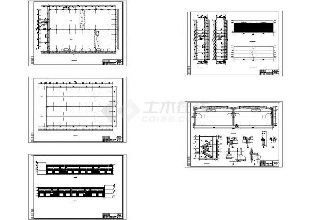 2×18米跨门式刚架厂房带吊车建筑结构毕业设计图纸(含计算书)-图一