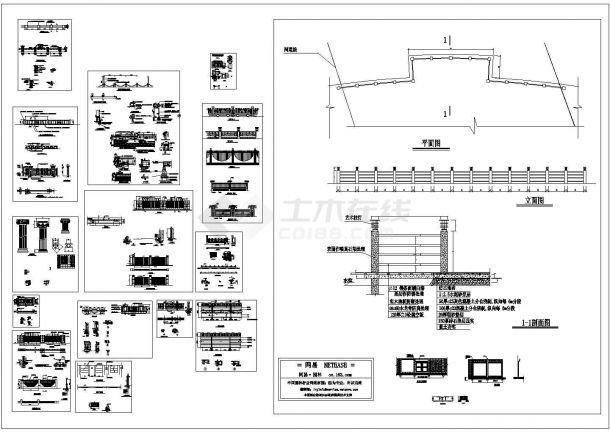 围墙栏杆CAD合集-图一