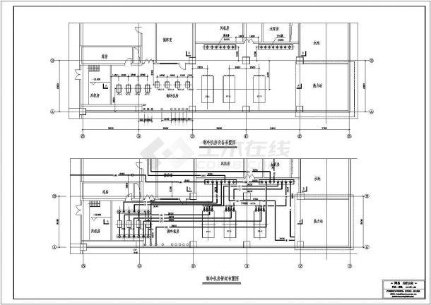 空调制冷机房管道布置-图一