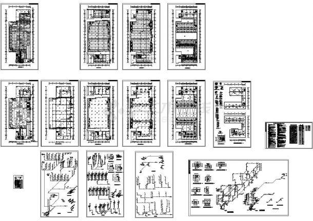某小区综合楼给排水系统施工图-图一
