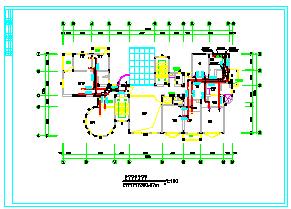 某豪宅别墅暖通空调cad设计图纸-图二