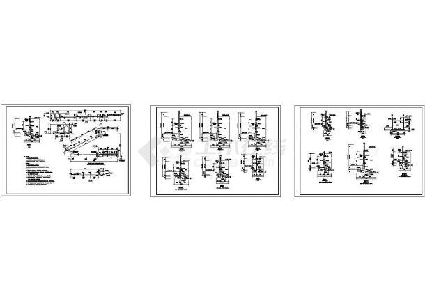 经典钢筋混凝土悬臂式挡土墙设计cad构造配筋详图(含设计说明)-图二