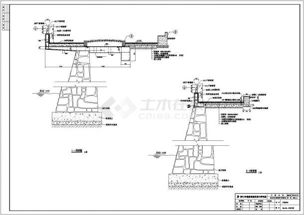某江滨北路景观绿地全套CAD平面节点构造施工图-图一