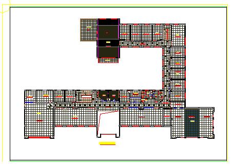 某办公楼整层室内装饰cad设计施工图-图一