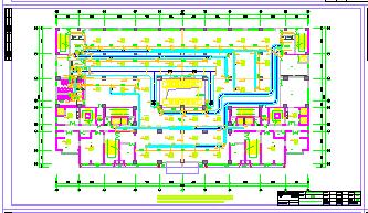 某大厦写字楼建筑暖通空调设计cad图纸-图二