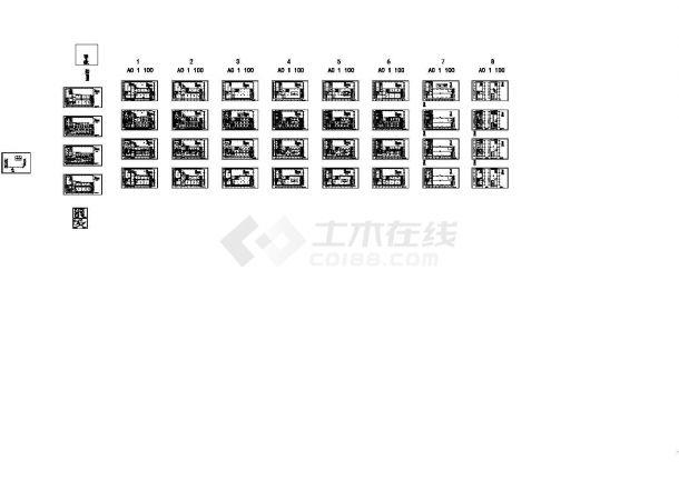 天津某学院暖通设计图纸(全空气系统)-图一