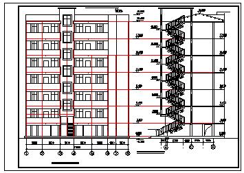 某底层车库住宅楼全套建筑cad设计图纸-图二